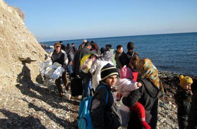 Άφιξη προσφύγων στη Μυτιλήνη