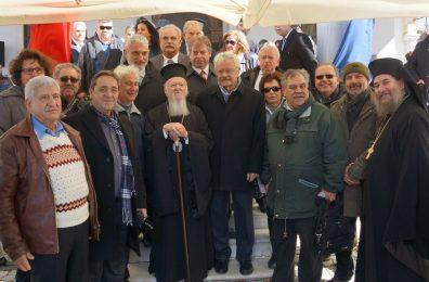 Με τον Πατριάρχη Βαρθολομαίο στη Σμύρνη